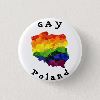 GAY Poland Badge 1 Inch Round Button