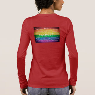 Gay pride and support long sleeve T-Shirt