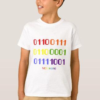 Gay Pride Binary T-shirt (light)