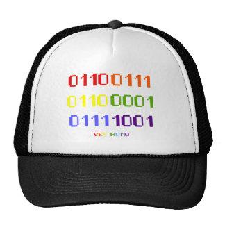 Gay Pride Binary T-shirt (light) Trucker Hat