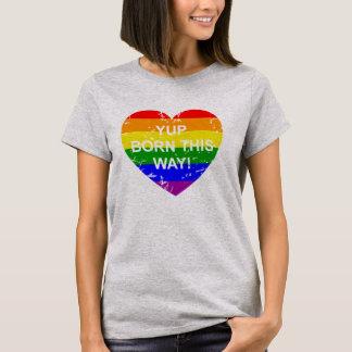 Gay Pride Born This Way Distressed Rainbow Flag T-Shirt