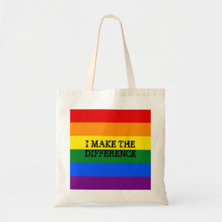 Gay pride budget tote. tote bag