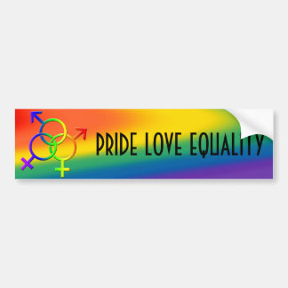 Gay Pride Bumper Sticker Same-Sex Love Stickers