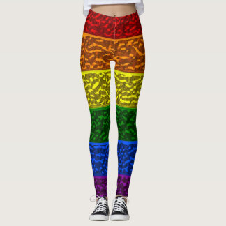 Gay Pride Chrome Flag Leggings