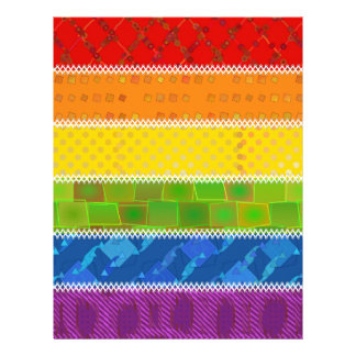 Gay Pride Colors Personalized Letterhead