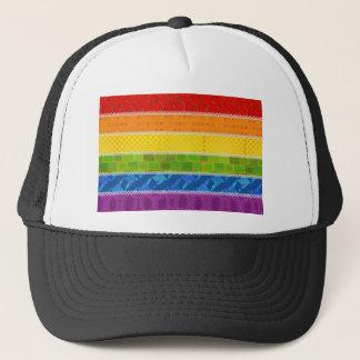 Gay Pride Colors Trucker Hat