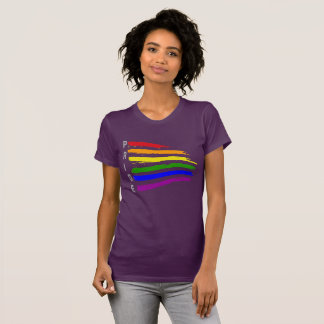 Gay Pride Cool and Proud Waving Rainbow flag Pride T-Shirt