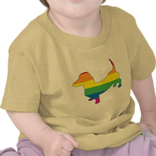 Gay Pride Dachshund/Wiener Tee Shirts