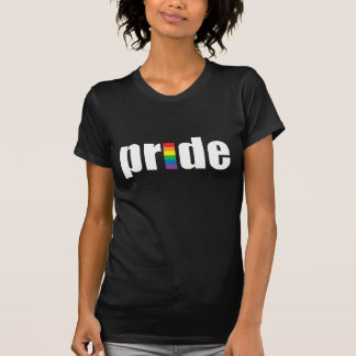 Gay Pride Dark Ladies Petite T-Shirt