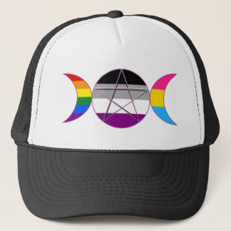 Gay Pride Demi Pan Goddess Symbol Trucker Hat