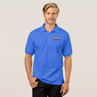 Gay Pride Distressed Waving Rainbow flag Pride Polo Shirt