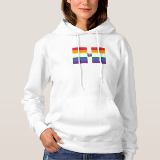 Gay Pride Dominican Flag Hoodie
