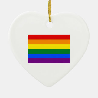 Gay Pride Flag Ceramic Ornament