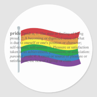 Gay Pride Flag Classic Round Sticker