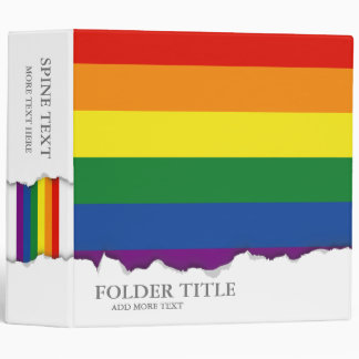 Gay pride Flag Vinyl Binders
