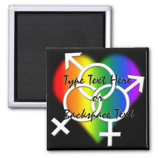 Gay Pride Fridge Magnet Custom Rainbow Love Magnet