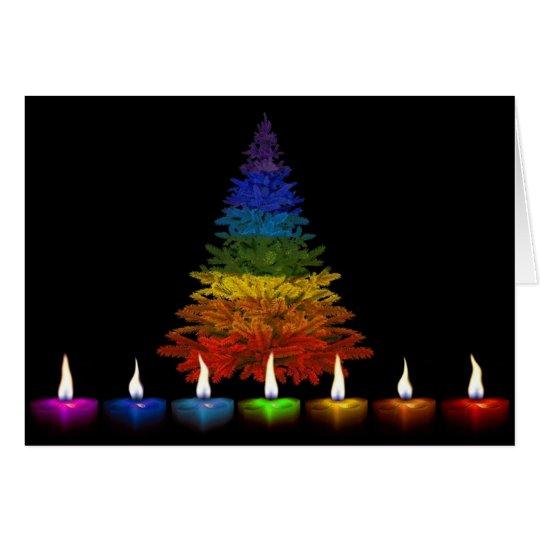 Gay Pride Happy Holidays Card