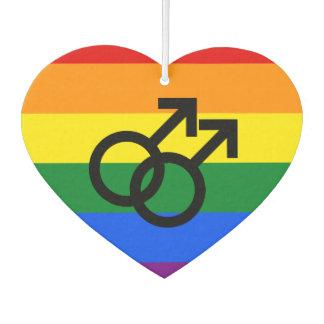Gay Pride Heart Air Freshener