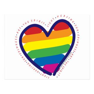GAY-PRIDE-HEART-WITH-WORDS POSTCARD