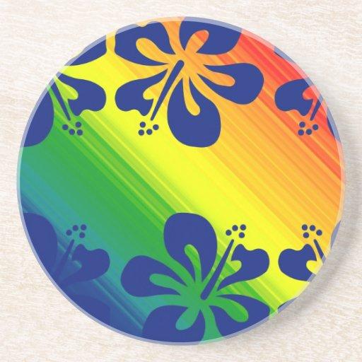 Gay Pride Hibiscus Home Office Decor Coasters Zazzle