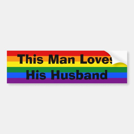 Gay Pride Husband STicker