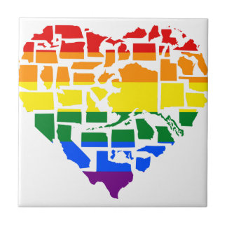 Gay Pride In All 50 States Tile