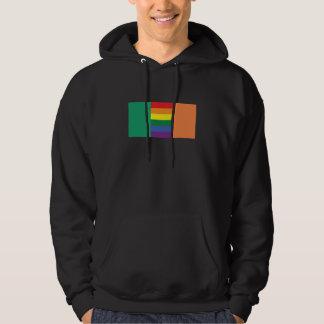 Gay Pride Irish Flag Hoodie