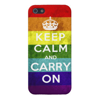 Gay Pride Keep Calm and Carry On Case For The iPhone 5
