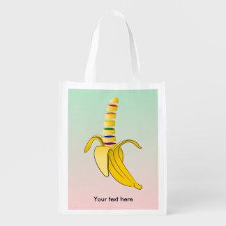 Gay Pride LGBQ Flag Banana Market Tote
