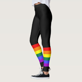 Gay Pride LGBT Colorful Rainbow Leggings