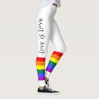 Gay Pride LGBT Colorful Rainbow Love is Love Leggings