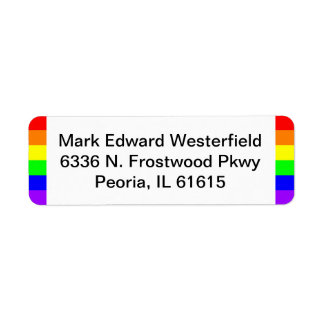 Gay Pride LGBT Pride Return Address Label