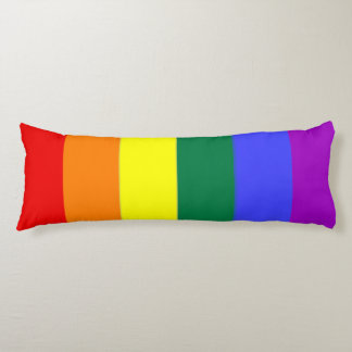 Gay Pride LGBT Rainbow Flag Body Pillow