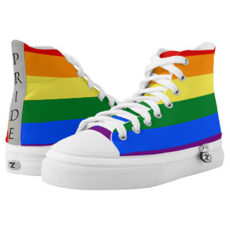 Gay Pride LGBTQ+ Rainbow High Top Sneakers