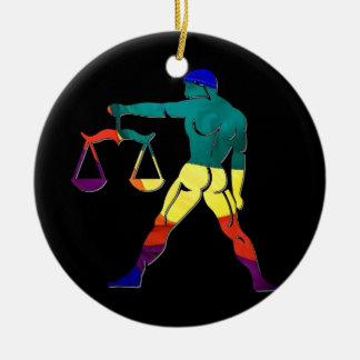 Gay Pride Libra Ceramic Ornament