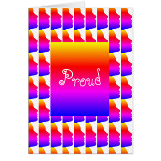 Gay Pride Love Rainbow Silhouette of a Face Card