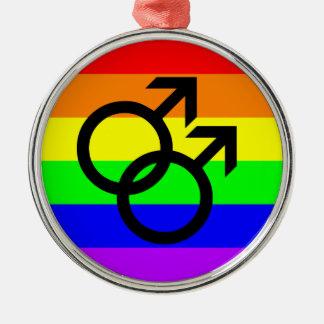 Gay Pride Metal Ornament