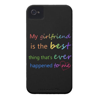 "Gay Pride - ""My girlfriend is"" iPhone 4 Case-Mate Cases"