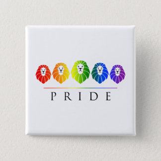 Gay Pride of Lions - LGBT 2 Inch Square Button