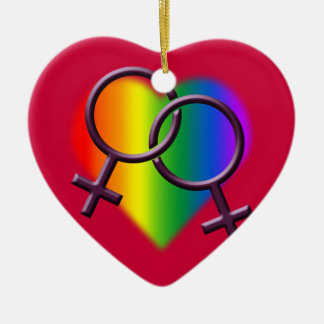 Gay Pride Ornament Personalized Rainbow Love Gifts