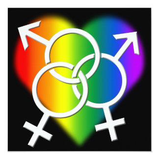 "Gay Pride Party Invitations Same-Sex Love Cards 5.25"" Square Invitation Card"