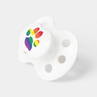 Gay-Pride-Paw-Print Baby Pacifier