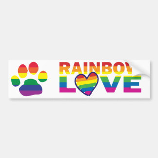 Gay Pride Paw Print Bumper Sticker