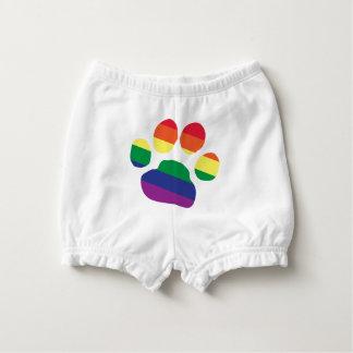 Gay-Pride-Paw-Print Diaper Cover
