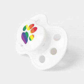 Gay-Pride-Paw-Print Pacifier