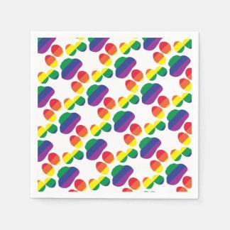 Gay-Pride-Paw-Print Paper Napkin