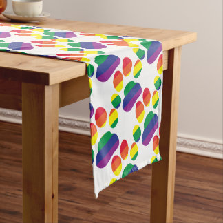 Gay-Pride-Paw-Print Short Table Runner