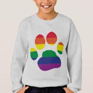 Gay-Pride-Paw-Print Sweatshirt