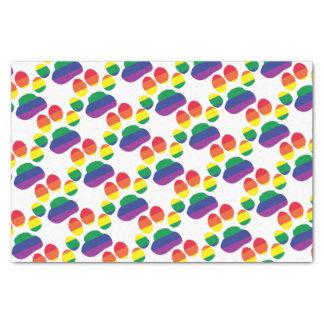 Gay-Pride-Paw-Print Tissue Paper