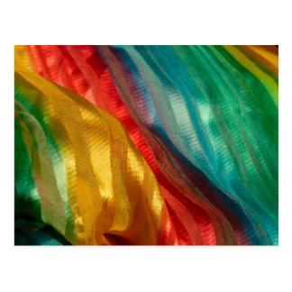 Gay Pride Rainbow Cloth Postcard